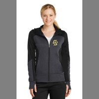 Golden Spikes Ladies Zip Up Hoodie