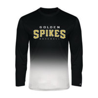 Golden Spikes Dri-fit Long Sleeve Ombre Shirt
